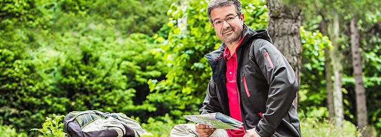 Manuel Andrack macht Pause in der Natur